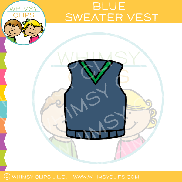 Blue Sweater Vest Clip Art