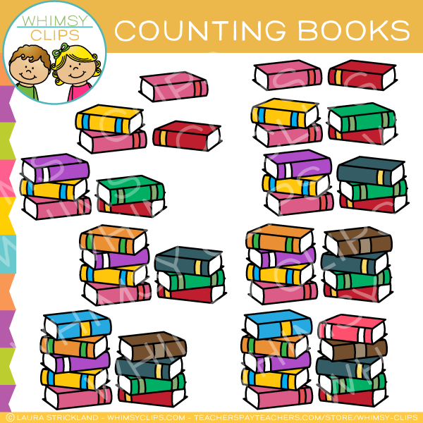 Book Counting Clip Art