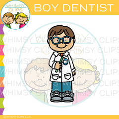 Boy Dentist Clip Art