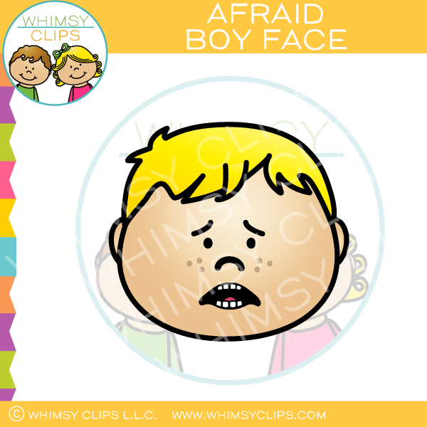 Boy Face Afraid Clip Art