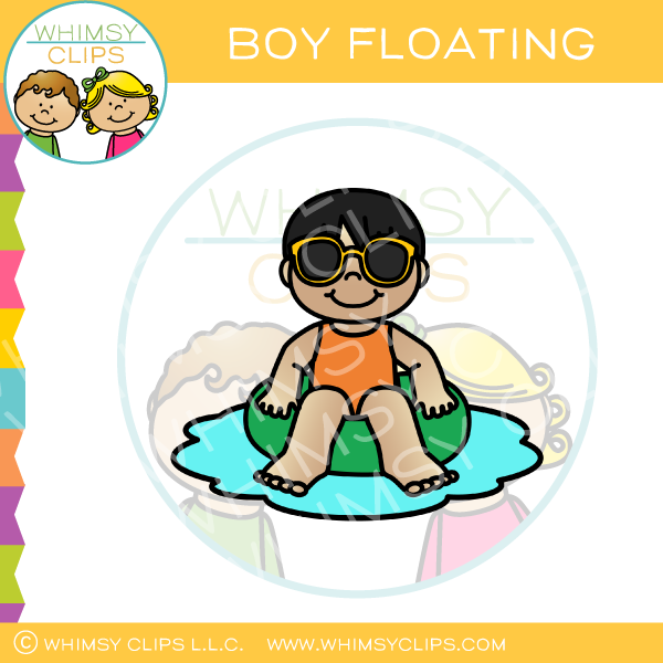 Boy Floating Clip Art
