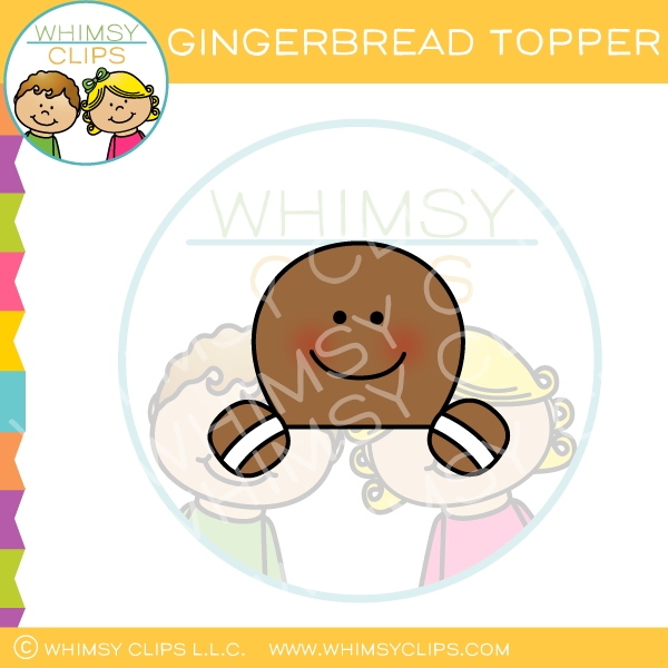 Gingerbread Topper Clip Art
