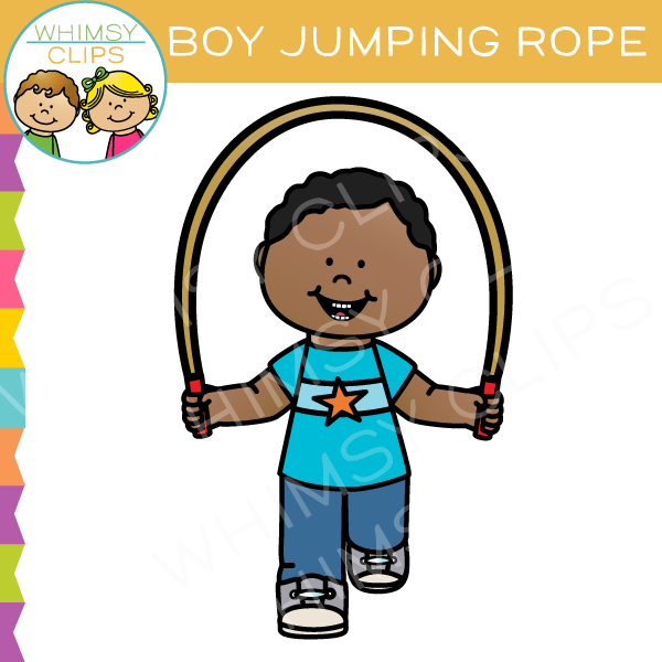 Boy Jumping Rope Clip Art