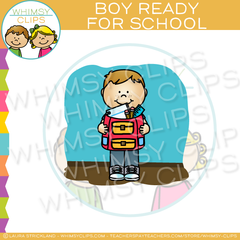 Boy Ready For School Clip Art
