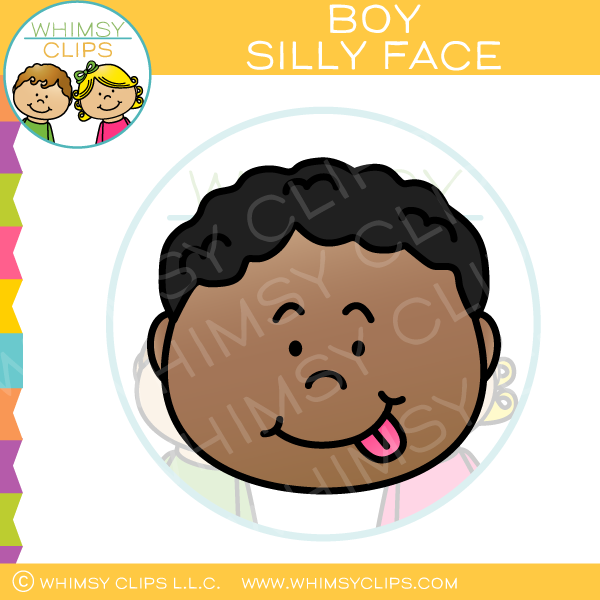 Boy Silly Face Clip Art