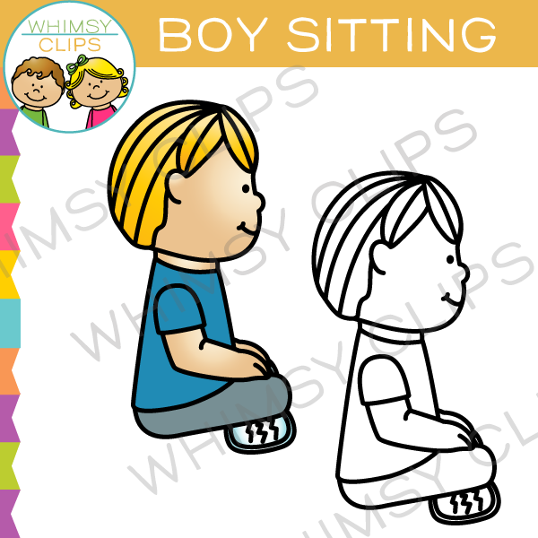Boy Sitting Clip Art