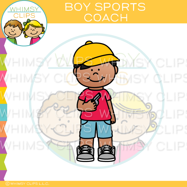Boy Sports Coach Clip Art