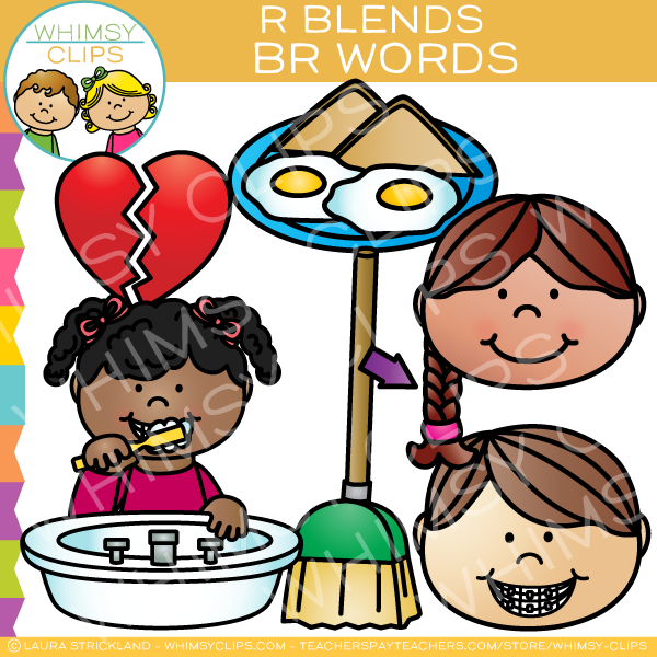 r blends clip art br words volume one images illustrations rh whimsyclips com clip art used on teachers pay teachers