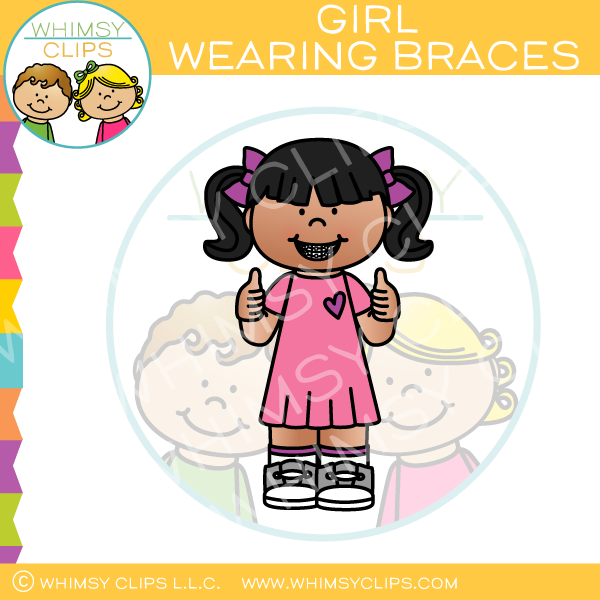 Girl Wearing Braces Clip Art