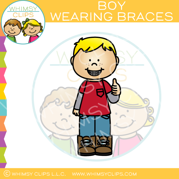 Boy Wearing Braces Clip Art