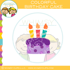 Bright Colorful Cake Clip Art