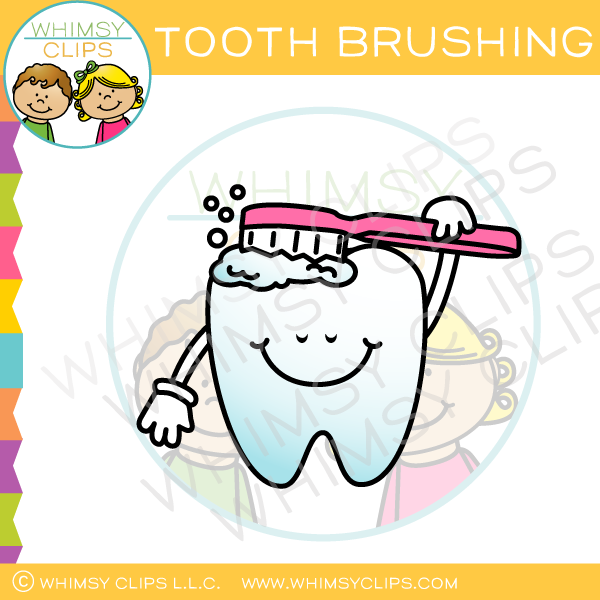 Tooth Brushing Clip Art