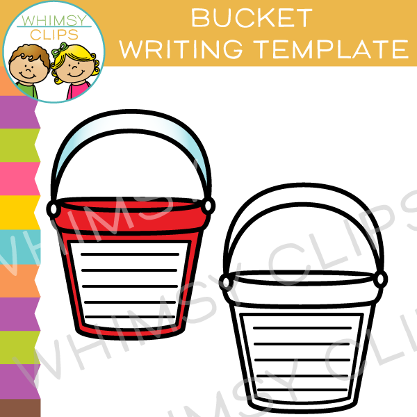Bucket Writing Template Clip Art