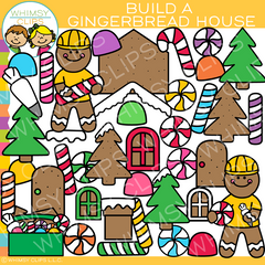 Build a Gingerbread House Clip Art