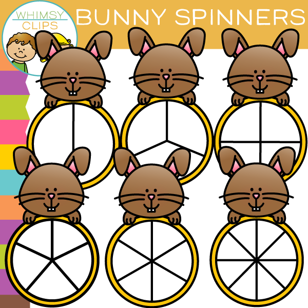 Adorable Bunny Spinners Clip Art