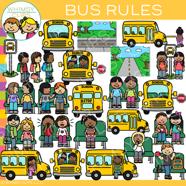 School Bus Rules Clip Art