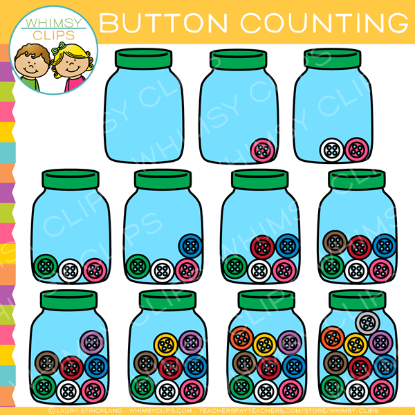 Counting Buttons Clip Art