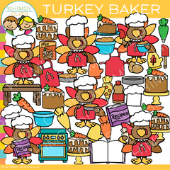 Turkey Baker Clip Art