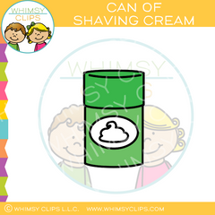Can Of Shaving Cream Clip Art