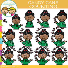 Counting Candy Canes Clip Art