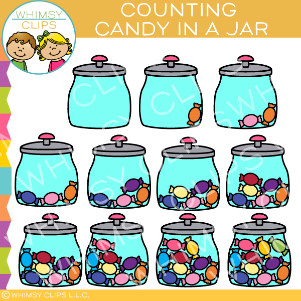 Candy Counting Clip Art