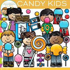 Candy Kids Clip Art