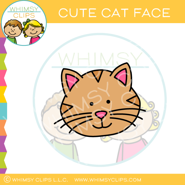 Cute Cat Face Clip Art Images Illustrations Whimsy Clips