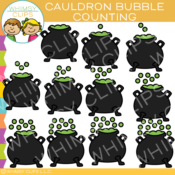 Cauldron Bubble Counting Clip Art