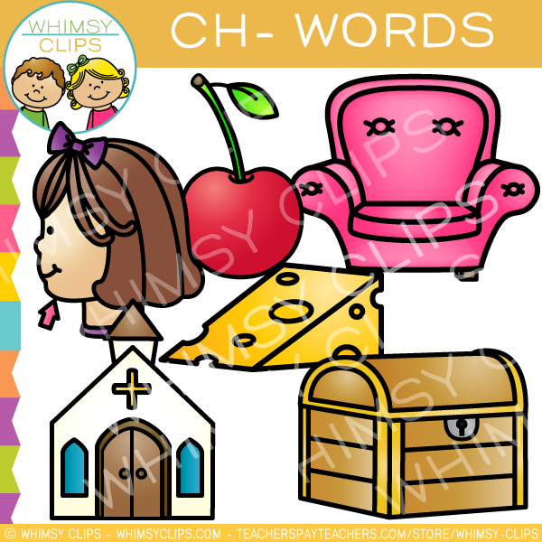 Beginning Ch- Words Clip Art - Volume One