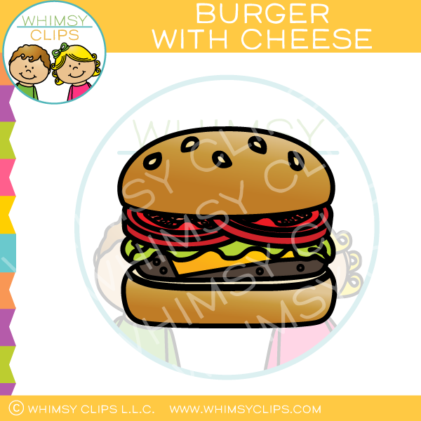 Burger With Cheese Clip Art