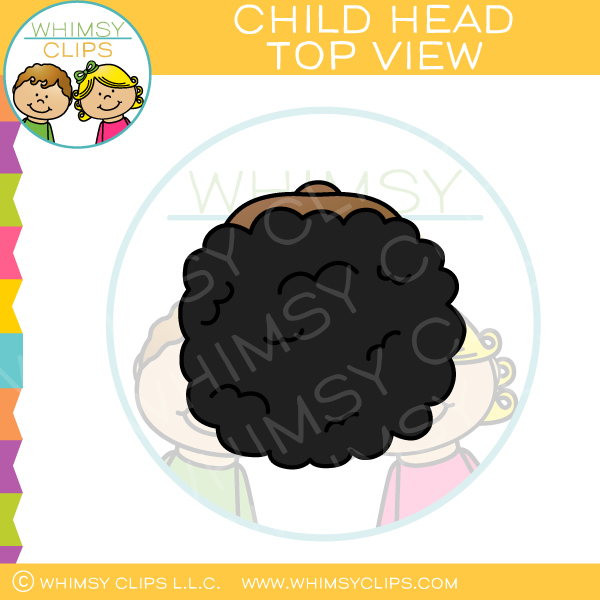 Child Head Top View Clip Art