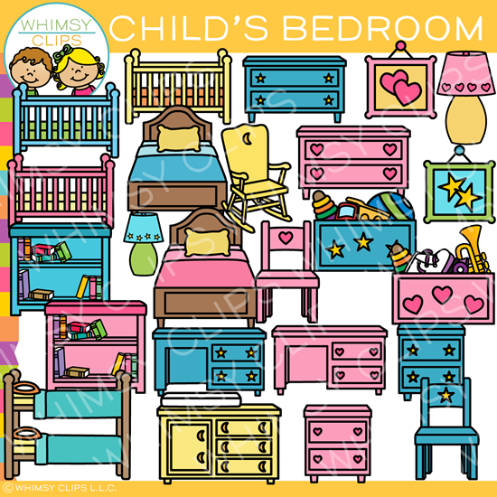 Childs Bedroom Furniture Clip Art