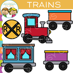 Kids Choo Choo Train Clip Art