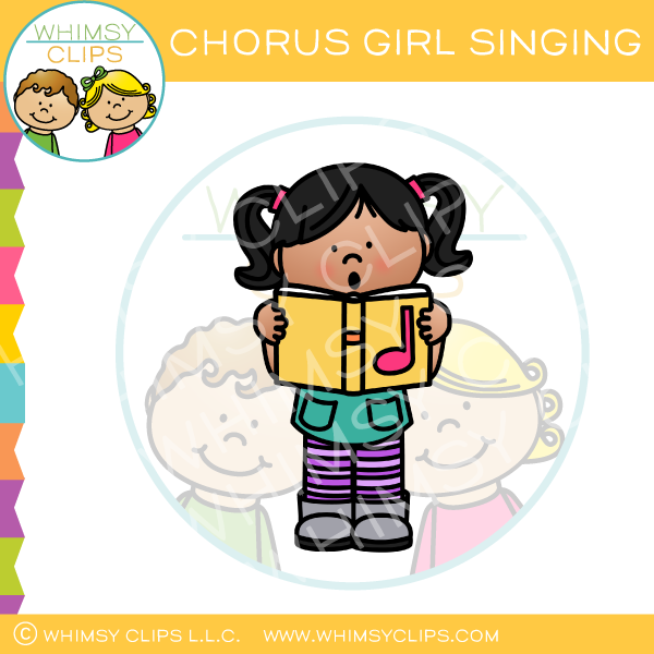 Chorus Girl Singing Clip Art