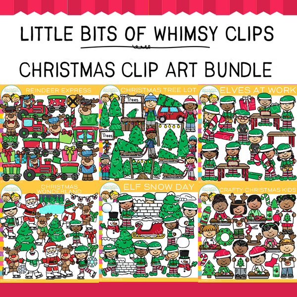 Little Bits of Whimsy Clips: Christmas Clip Art Bundle