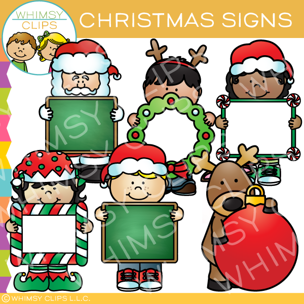 Christmas Signs Clip Art