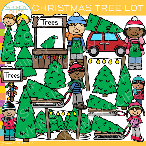 Christmas Tree Lot Clip Art