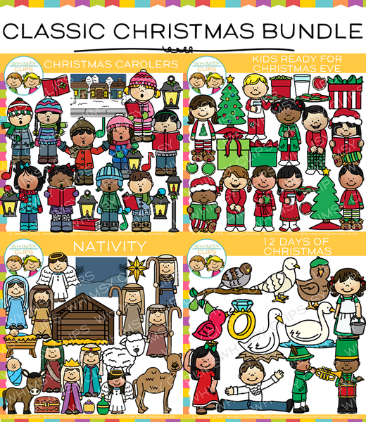 Classic christmas clip art bundle images illustrations classic christmas clip art bundle images illustrations whimsy clips voltagebd Gallery