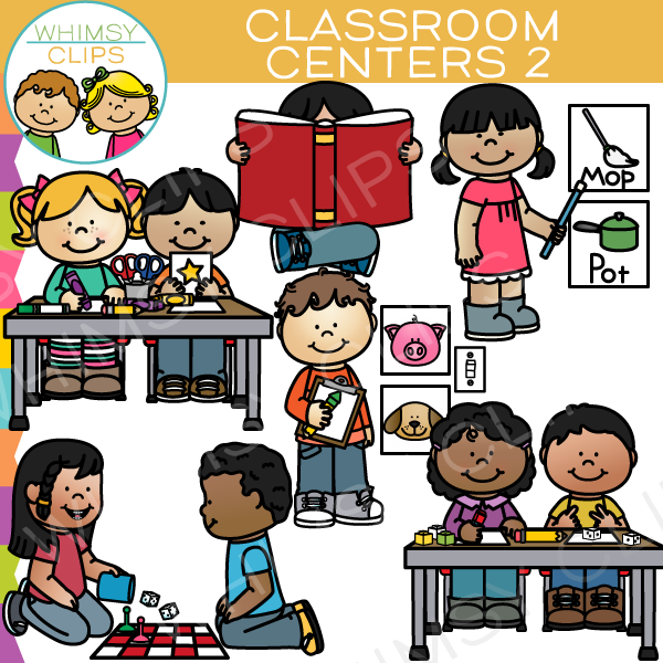 Classroom Centers Clip Art - Set Two