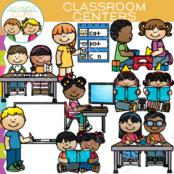 classroom centers clip art set one images illustrations rh whimsyclips com clip art classroom table clipart classroom english