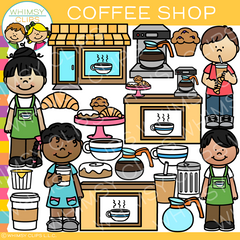 Kids Coffee Shop Clip Art