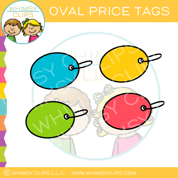 Colored Oval Price Tags Clip Art