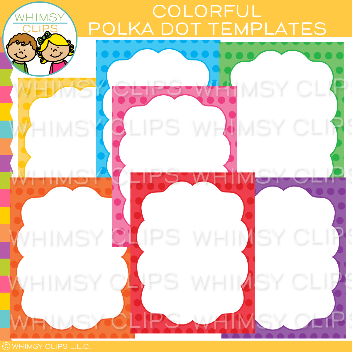 Colorful Polka Dot Templates