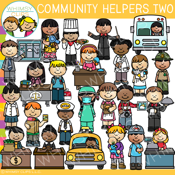 Clip Art Community Helper Clipart community helpers clip art images illustrations whimsy clips art