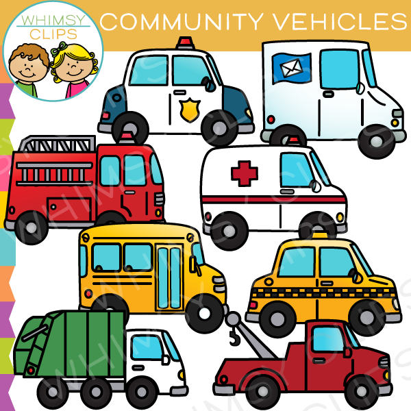 Transportation Community Vehicles Clip Art