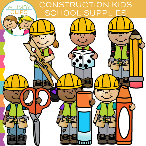 Construction School Supplies Clip Art