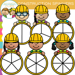 Construction Kids Spinners Clip Art