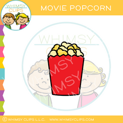 Container Of Movie Popcorn Clip Art