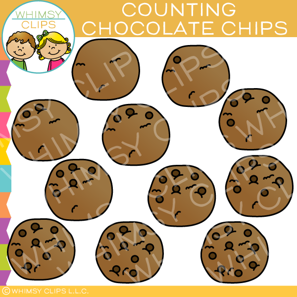 Counting Chocolate Chips Clip Art