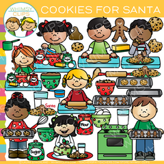 Christmas Cookies for Santa Clip Art